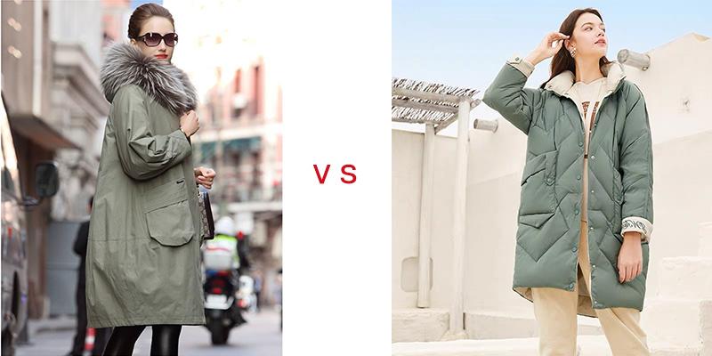 派克服与羽绒服外观上的区别