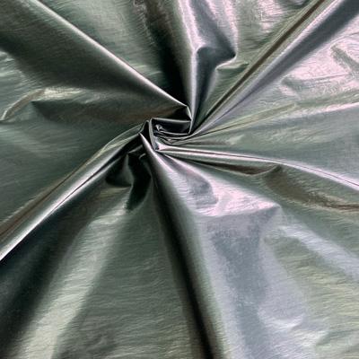 金属皱羽绒服面料