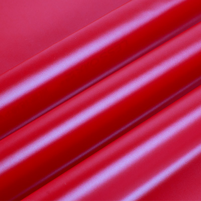 红色亮面幻彩羽绒服面料