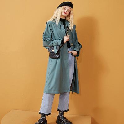 绿色风衣面料