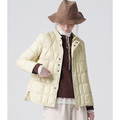 奶白色 羽绒服面料