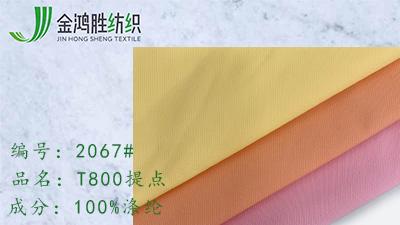 金鸿胜T800提点 涤纶防水羽绒服面料 时尚风衣夹克布料