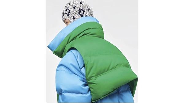 这季羽绒服趋势:两件式羽绒外套叠加