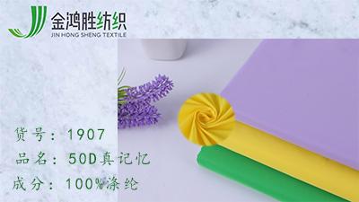 金鸿胜50D真记忆风衣布料 400T防水梭织面料 秋冬女装保暖羽绒服布料