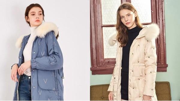 绣花羽绒服面料,温暖中夹着一种时尚的风潮